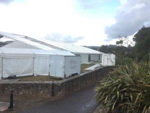 trailer at sidmouth folk festival